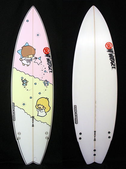 Mt Woodgee Surfboards Mod Fish 5'10