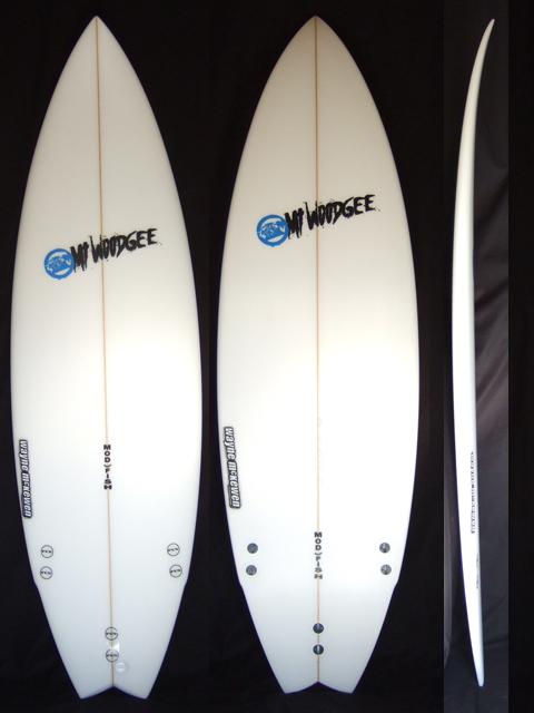 Mt Woodgee Surfboards Mod fish 5'8