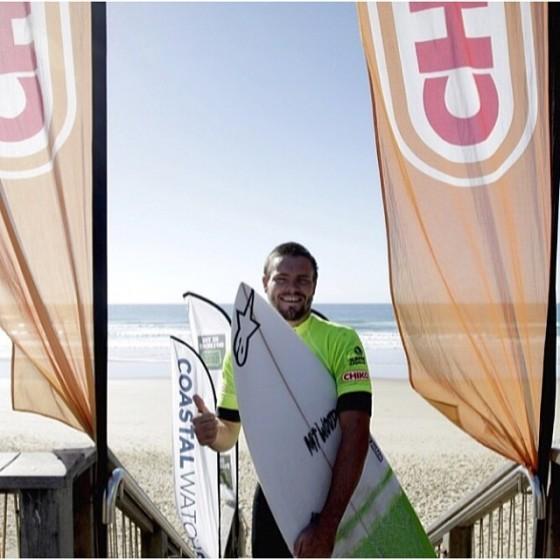 the Chiko Sunshine Coast Pro 2014 Mt Woodgee Surfboards ライダー Tim McDonald (ティム・マクドナルド)