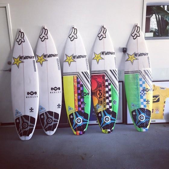 ビード・ダービッジ使用 Mt Woodgee Surfboards SAINT モデル
