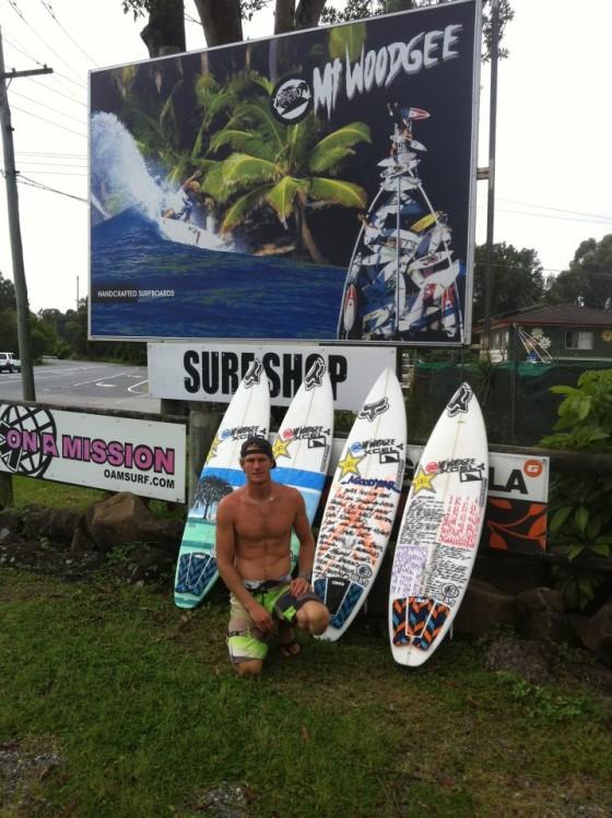 Mt Woodgee Surfboards ライダー Bede Durbidge(ビード・ダービッジ)