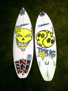 Rip Curl Pro Portugal 2012 ビード使用 Mt Woodgee Surfboard DURBOモデル