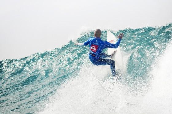 Kelly Slater Quiksilver Pro France 2011 © Rabejac