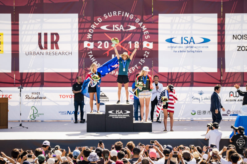Women's Division Podium. PHOTO: ISA / Ben Reed