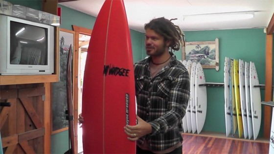 MT WOODGEE making a single fin for ASH GRUNWALD