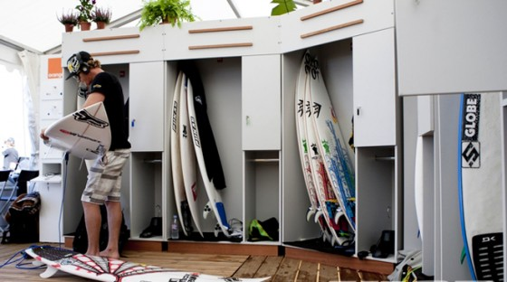 The added luxury of personal lockers has been welcomed by the top 36 ASP World Tour surfers. Pic: ASP/Cestari