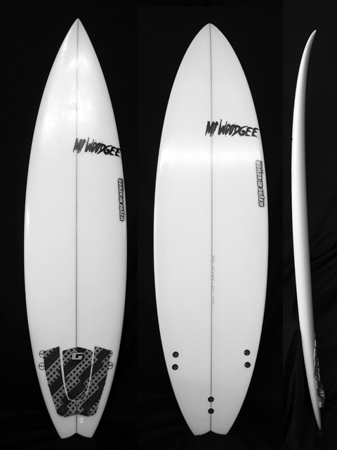 #std009 中古 Mt Woodgee Surfboards 6'2 STANDARD