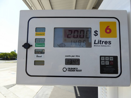 2015/03/08 10:08 オーストラリアのガソリン価格