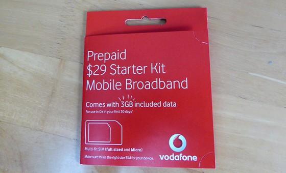 オーストラリア Vodafone