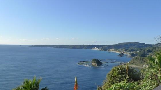 伊豆白浜が見えます。