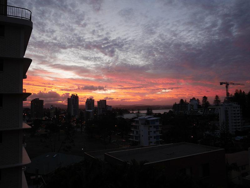 2017/02/21 18:46 クーランガッタの夕日