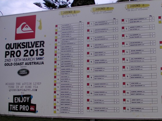 Quiksilver Pro 2013 Round3