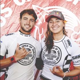 Alejo Muniz & Carissa Moore Vans US Open of Surfing Win