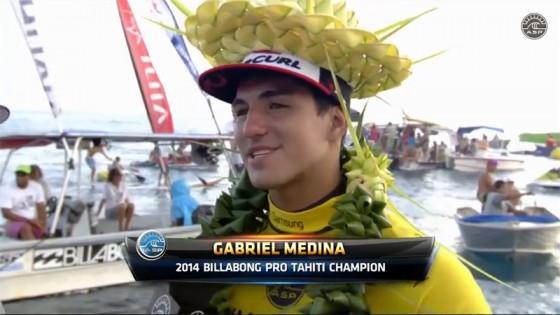 Gabriel Medina Win Billabong Pro Tahiti 2014