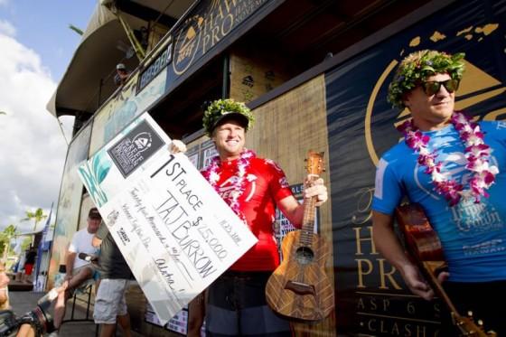 Taj Burrow (AUS) $25 000 richer and takes the lead in the Vans Triple Crown. © ASP/ Kirstin