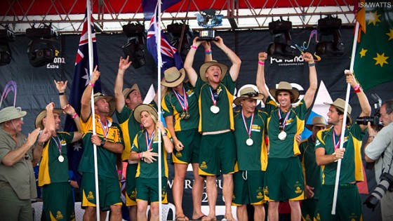 Australia Wins the Team Gold Medal in the 2011 Billabong ISA World Surfing Games