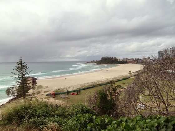Coolangatta Beach from kirra