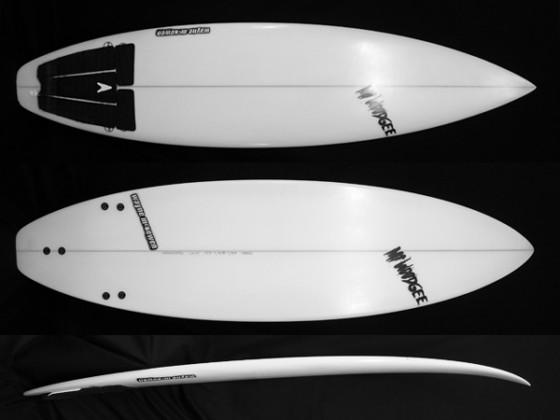 #std010 中古 Mt Woodgee Surfboards 6'4 STANDARD