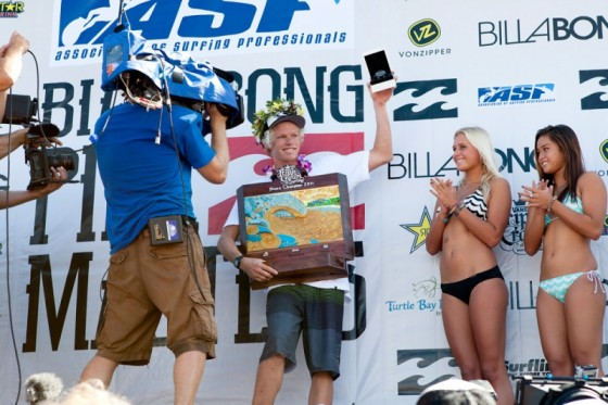 If John John Florence (HAW) didn't have girls offering him his number they will now after being crowned the youngest Champion ever in the history of the VANS Triple Crown.