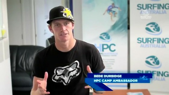 Bede Durbidge Surfing Australia High Performance Centre
