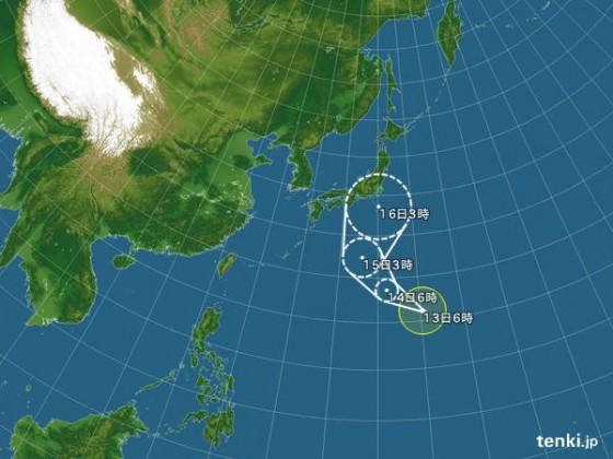 台風18号 2013年9月13日 6時45分発表