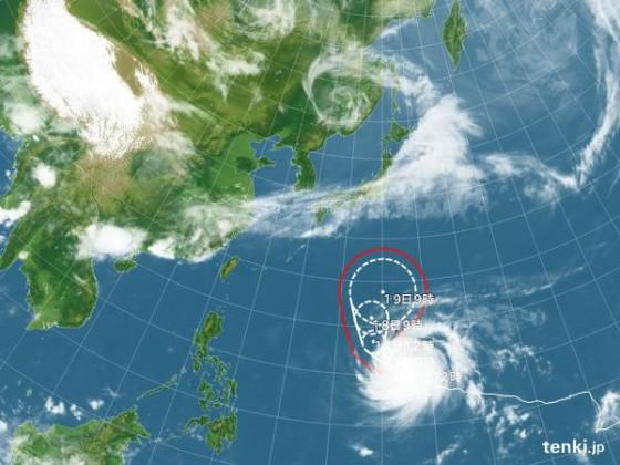 台風7号 2015年05月16日12:00現在