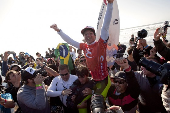 Gabriel Medina (BRA), 17, winner of the Rip Curl Pro Search San Francisco