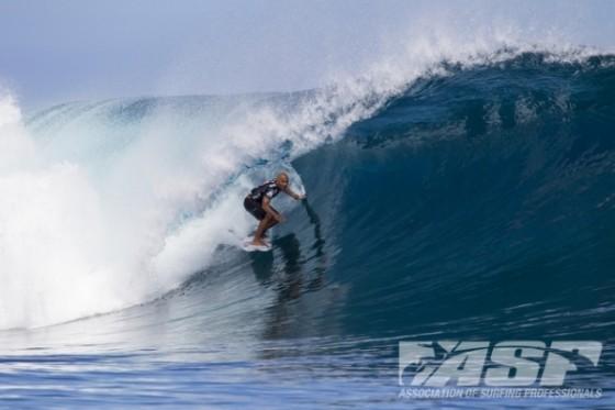 Fredrick Patacchia Round 1 of the Volcom Fiji Pro.