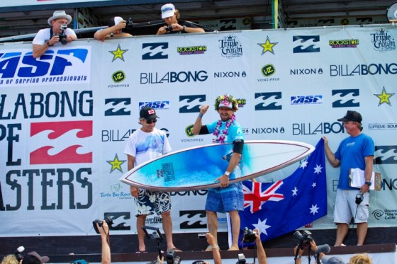 Kieren Perrow  Win Billabong Pipe Masters 2011