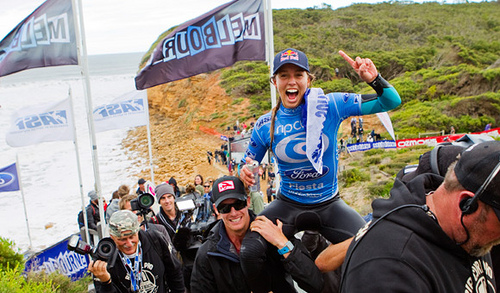 Rip Curl Women's Pro sally rings the Bell!