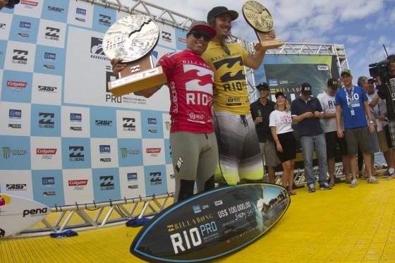 Jordy Smith Win 2nd Adriano de Souza Billabong Pro Rio 2013